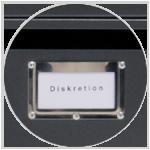 abschließbare Fächer für diskretes scannen, kopieren und schreddern